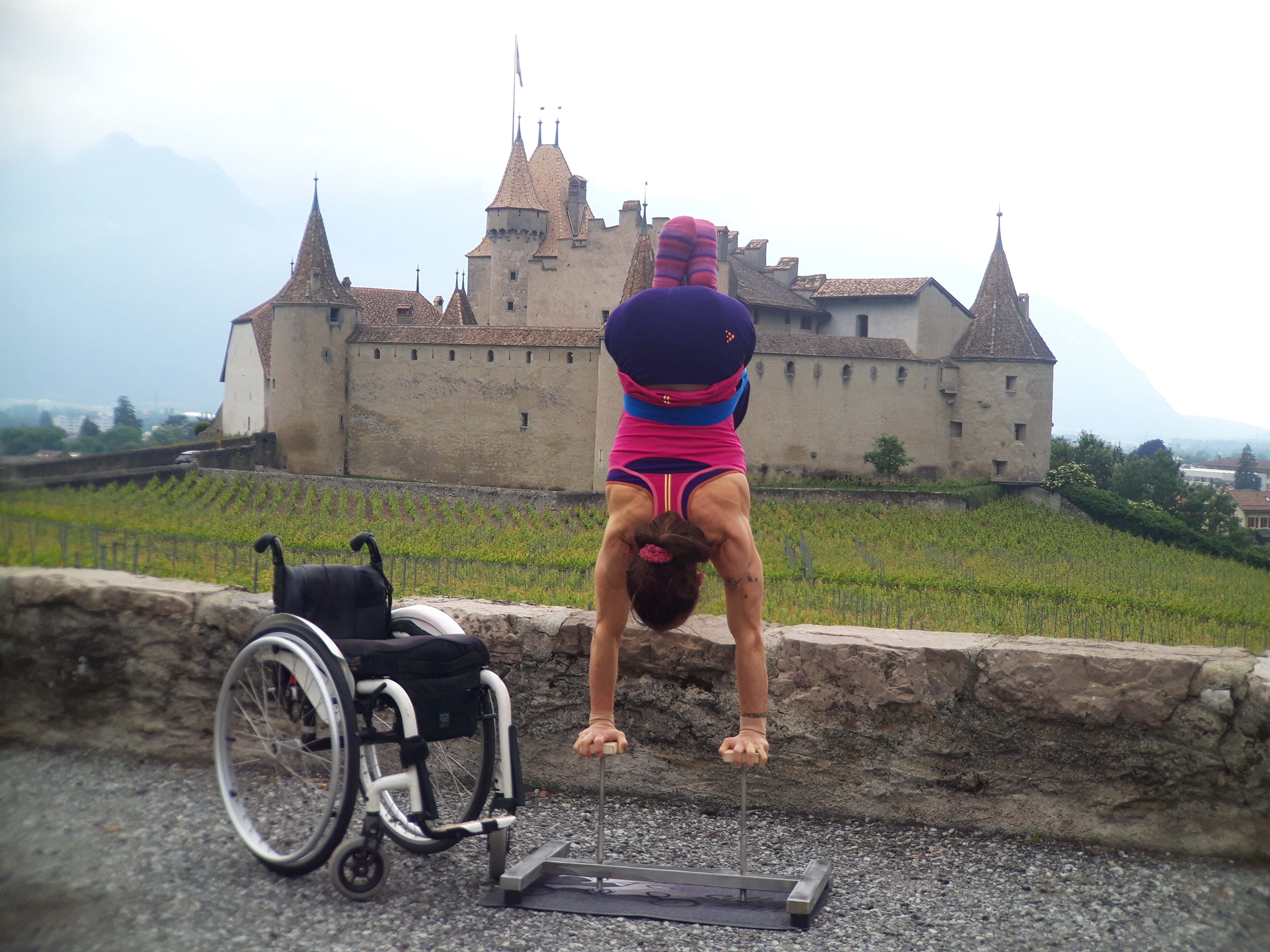 Silke Pan reprend les acrobaties